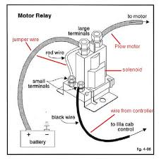 wiring diagram for old western plowsite this relay control the pump motor