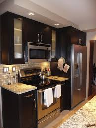 kitchen stainless steel countertops black cabinets popular in spaces baby tropical medium wall coverings bath bathroom recessed lighting ideas espresso