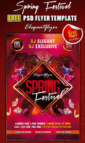 psd party club flyer templates edition spring festival club flyer template