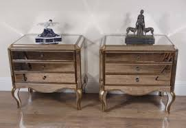 pair italian mirrored art deco bedside tables art deco mirrored furniture