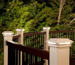accent your railing with deck post lights that surround your space with warmth blog 3 deck accent lighting