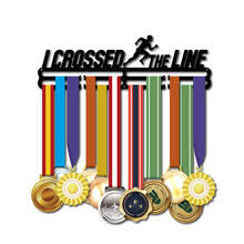 Creative I CROSSED THE LINE <b>Medal Display</b> Holder Metal Medal ...