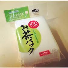 daiso japan empty <b>loose leaf tea filter</b> bag m 9.5 x 7 cm made in japan