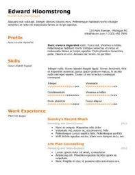 technical special best word resume template