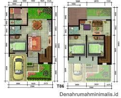 desain denah rumah tipe 36: Denah rumah minimalis type 36 modifikasi menjadi lebih luas