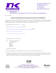 vehicle bill of car bill of template legal computer support computer support agreement sample software support agreement template