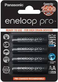 Комплект <b>аккумуляторов AA Panasonic</b> Eneloop Pro BK-3HCDE ...