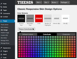 Thesis theme has a patent pending color scheme picker that gives the user much customization ability in an efficient and secure manner