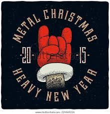 <b>Metal Christmas Heavy New</b> Year Tshirt Stock Vector (Royalty Free ...