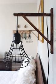 ikea pendant light wired through wooden support taylor alanas carefully crafted hoboken bedroom lighting ideas bedroom sconces