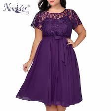 2019 <b>Nemidor Women Vintage Short</b> Sleeve Floral Lace Top A Line ...