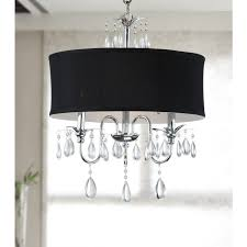 chrome 3 light black shade crystal chandelier black crystal chandelier lighting