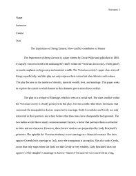 the importance of being earnest  how conflict contributes to humor    the importance of being earnest  how conflict contributes to humor essay example
