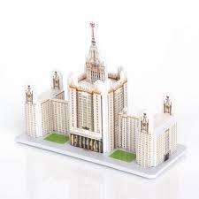 <b>3D пазл</b> Главное здание МГУ <b>IQ Puzzle</b> — купить в Москве в ...
