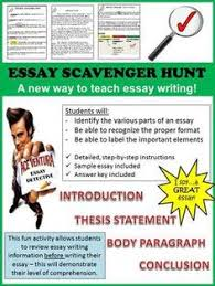 essay writing writing lessons and writing on pinterest essay writing scavenger hunt how to write an essay