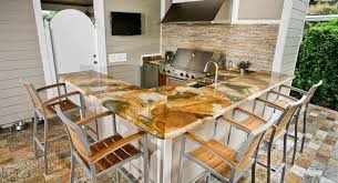 Countertop For Outdoor Kitchen Outdoor Kitchen Countertops Orlando Adp Surfaces