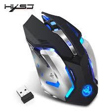 <b>HXSJ</b> M10 <b>Wireless</b> Gaming Mouse 2400dpi Rechargeable 7 color ...