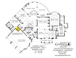 Tranquility Elevation B House Plan   House Plans by Garrell    tranquility house plan   elevation b  st floor plan