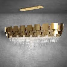 Large Oval Italian <b>Designer Gold</b> Plated <b>Crystal</b> Chandelier   吊灯 in ...