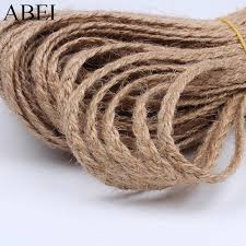<b>3mm</b> 10Yards twisted Jute Rope Braid String Cord Craft Cords For ...