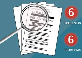 resume review  six seconds  six problems — abacus group blogresume review  six seconds  six problems