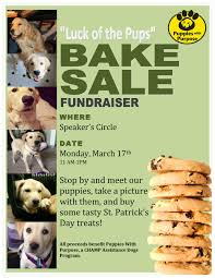 news events bake fundraiser flyer