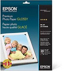 "<b>Epson</b> S041465 Premium Photo <b>Paper Glossy</b>, 8""x10"", 20 sheets Ink ..."