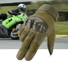 <b>Touchscreen Motorcycle</b> Rubber Hard Knuckle Full Finger Gloves ...