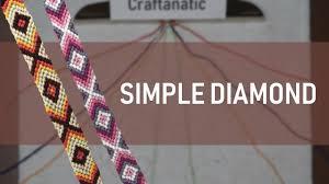 Simple <b>Diamond Friendship Bracelet Tutorial</b> - YouTube