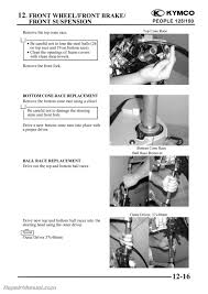 kymco people 125 150 cyclepedia printed scooter service manual kymco people 125 and 150 scooter service manual