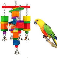<b>Wooden</b> Bird Ladder Cage Swing <b>Blocks Toy</b> Parrot Exercise Chew ...