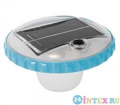 Плавающая <b>подсветка на солнечной батарее</b> (Intex 28695 ...
