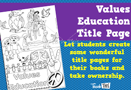 values education title page printable title pages for primary values education title page