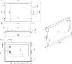 10 inch monitor metal (4:3) - Beetronics