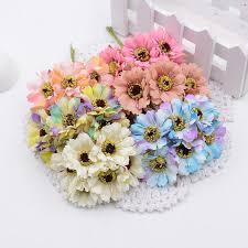 Wholesale- <b>6pcs</b>/<b>lot</b> Silk Flowers Artificial Flowers Simulation High ...