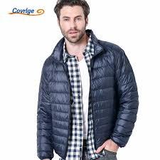 <b>Covrlge New Men</b> Winter Jacket Ultra Light 90% White Duck Down ...