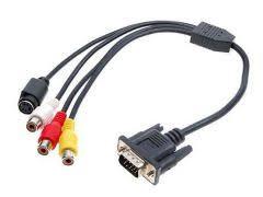 Адаптер <b>VGA</b> - <b>AV</b> тюльпан для видеокарт с TV-Out - Бытовая ...
