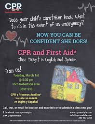 caretaker cpr class in english and spanish cpr ready caretaker flyer