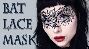 <b>BAT LACE</b> MASK <b>Halloween</b> Makeup Tutorial - YouTube