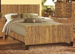 brown rattan wicker bedroom