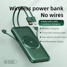 <b>Vogek</b> 20000mAh Qi Wireless <b>Charger Power Bank</b> with Cable USB ...