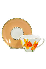 <b>чашка с блюдцем anna</b> lafarg райский сад желтая 200мл фарфор ...
