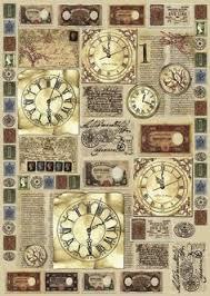 """Decoupagebogen """"Edle Uhren"""" - VBS-Hobby.com"""