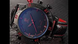 Мужские <b>часы SHARK SH261</b> LED Digital Red Date Day Leather ...