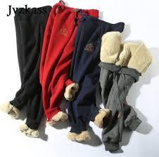 <b>Jvzkass</b> 2019 Winter <b>cotton</b> pants lambskin sweatpants wool casual ...