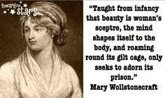 Mary Wollstonecraft Quotes Beauty. QuotesGram via Relatably.com