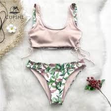 Wrap <b>Bikini</b> Top Leaf <b>Bikini leaf print Swimsuit</b> swim <b>swimwear</b> ...