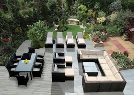 patio furniture set modern amazoncom patio furniture