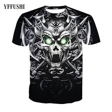 <b>YFFUSHI 2018 Male 3d</b> T Shirt Unique Knife Axe Skull Print T Shirt ...