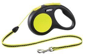 <b>Поводок</b>-<b>рулетка</b> для собак <b>Flexi New Neon</b> S тросовый — купить ...